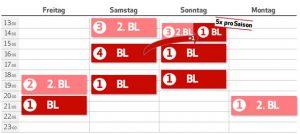 Variante 2 der Spieltage 1. und 2. Liga ab der Saison 2017/2018